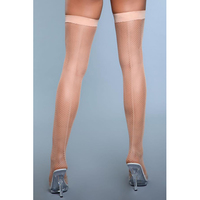 Great Catch Fishnet Backseam Stockings - Nude - One Size (S-L 34 - 40)